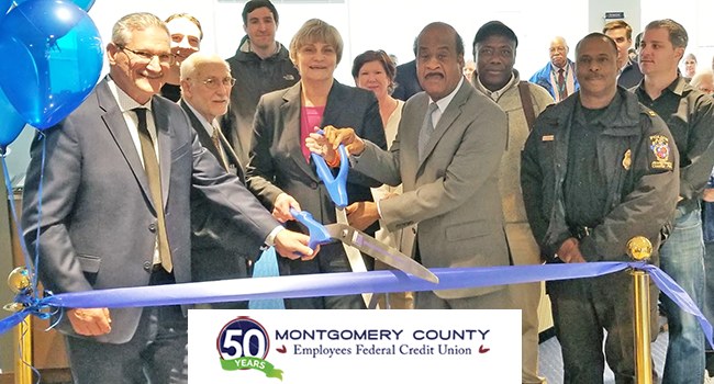 Montgomery County Executive Ike Leggett participated in a grand-opening ceremony at the Montgomery County Employees Federal Credit Union