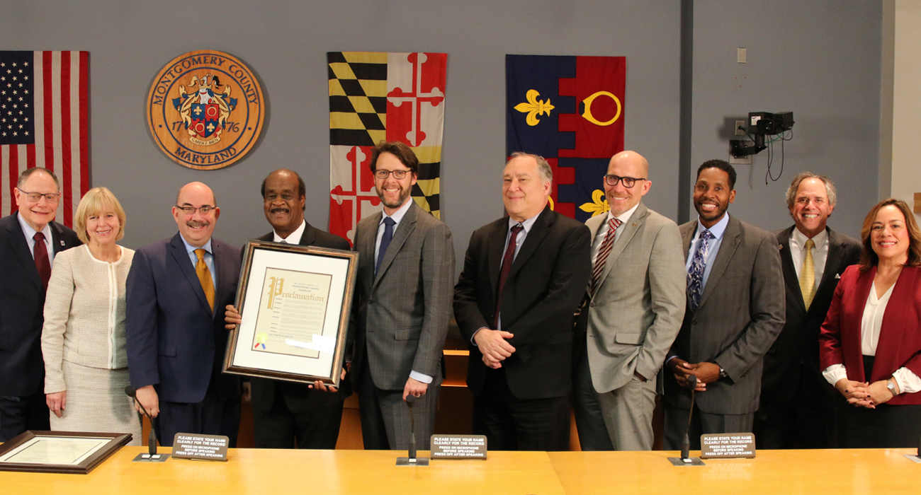 Council Honors Retiring County Executive Ike Leggett