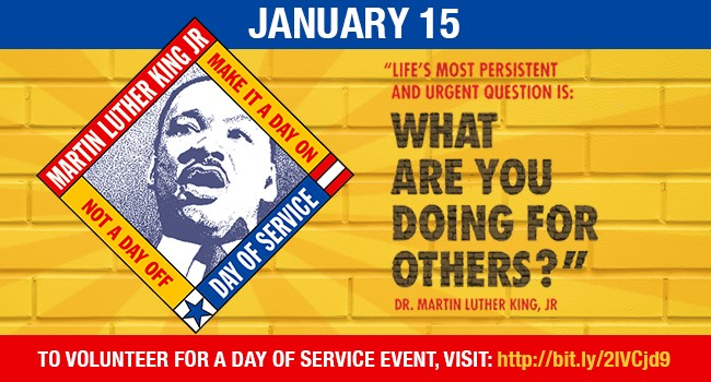 Sign Up for Martin Luther King Jr. Day of Service January 15