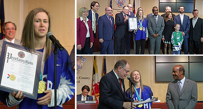 Photo: Recognizing Olympic Gold Medalist Haley Skarupa