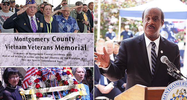 Montgomery County Dedicates Vietnam Veterans Memorial