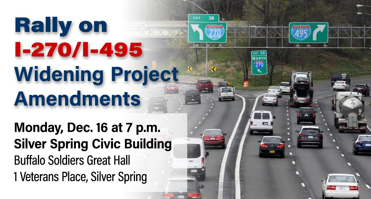 Rally on 1-270/I-495 Widening Project Amendments