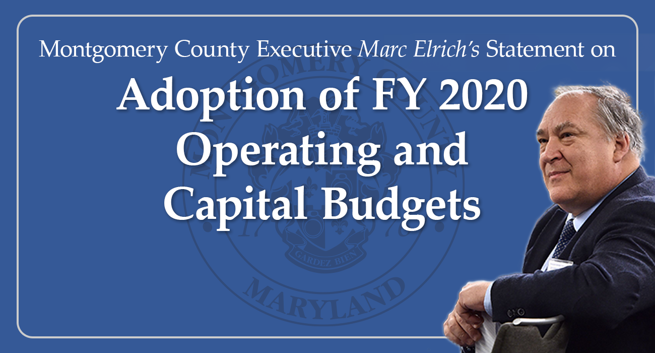 FY 2020 Operating and Capital Budgets Adopted