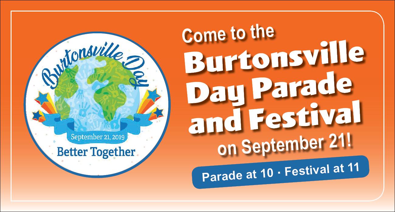 Burtonsville Day Parade and Festival on September 21!
