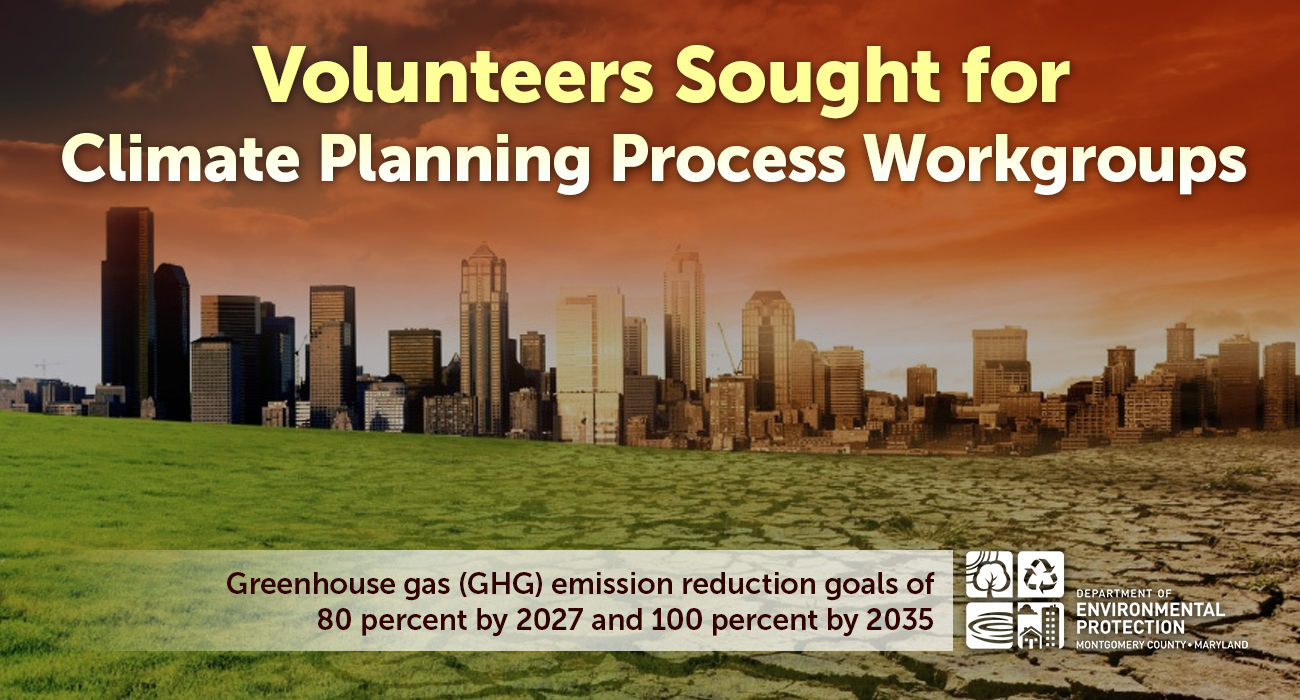 Volunteers Sought for Climate Planning Process Workgroups