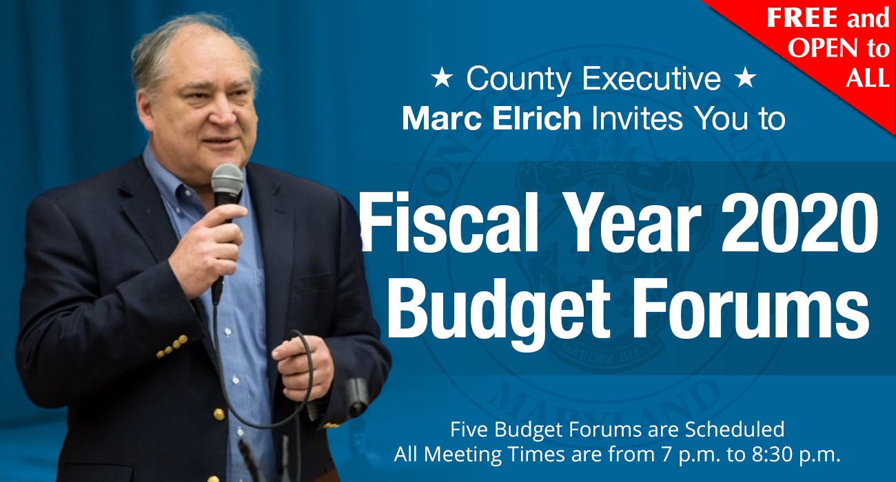 Elrich Holds First of Five FY20 Operating Budget Forums