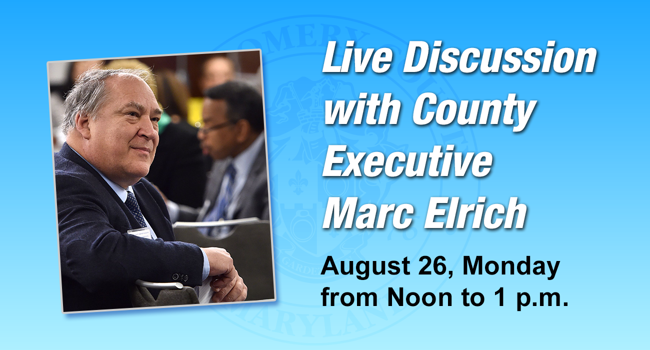 Live Discussion with County Executive Marc Elrich