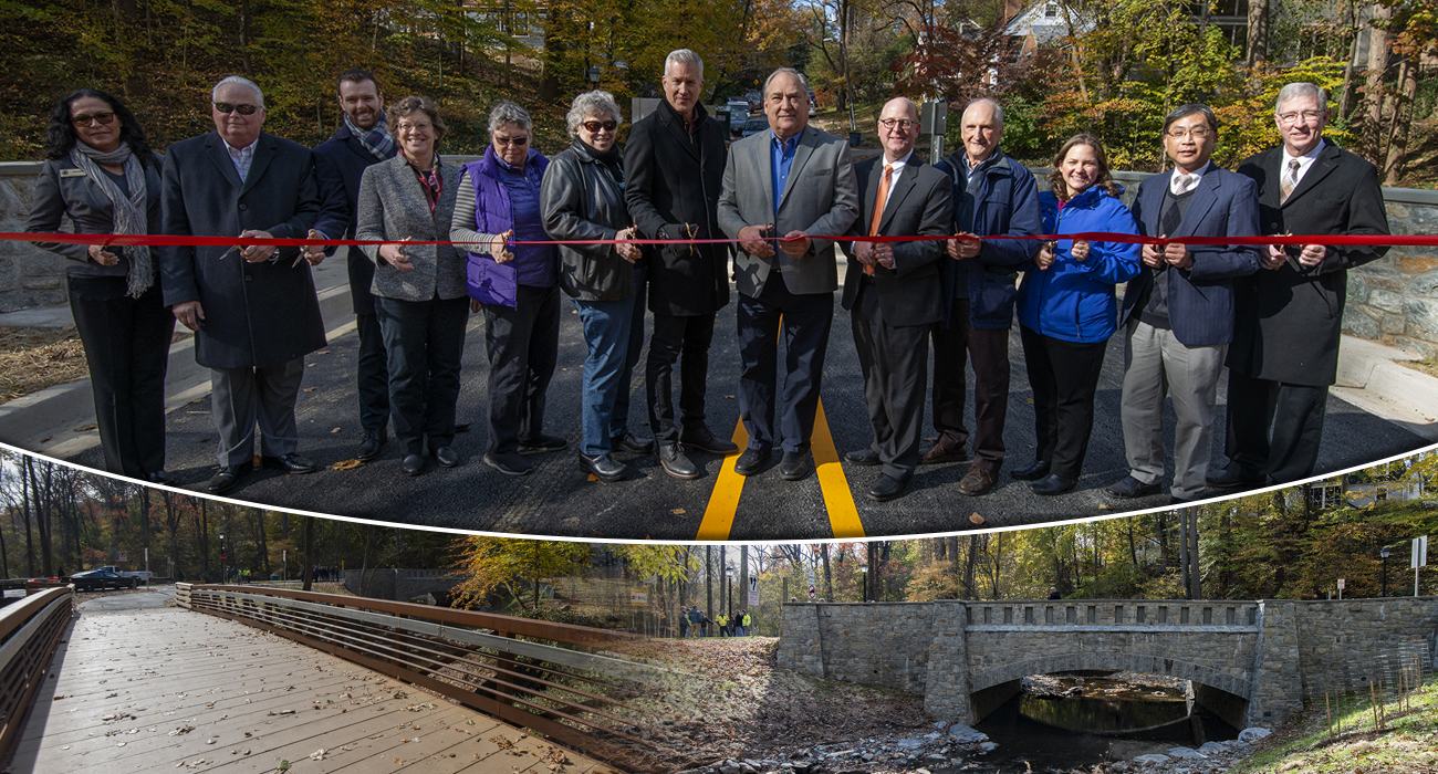 Rebuilt Park Valley Road Bridge Dedicated