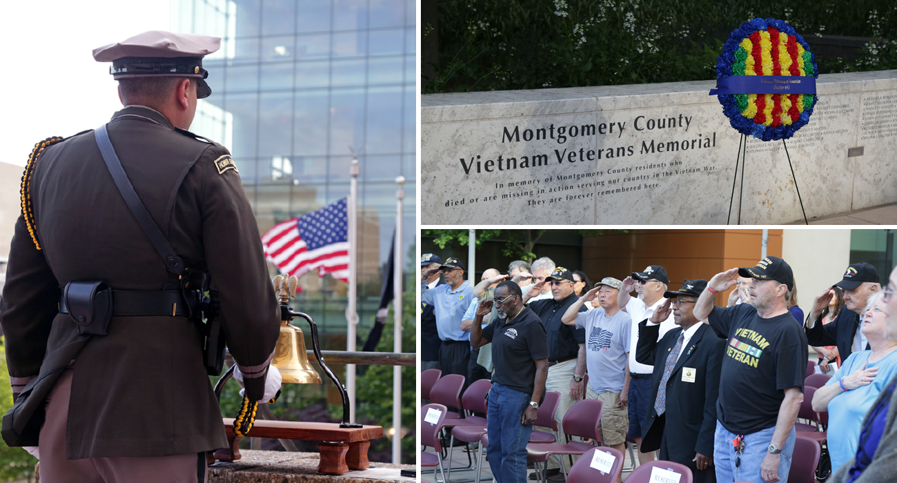 Photo: Montgomery Vietnam Veterans Wall Commemoration