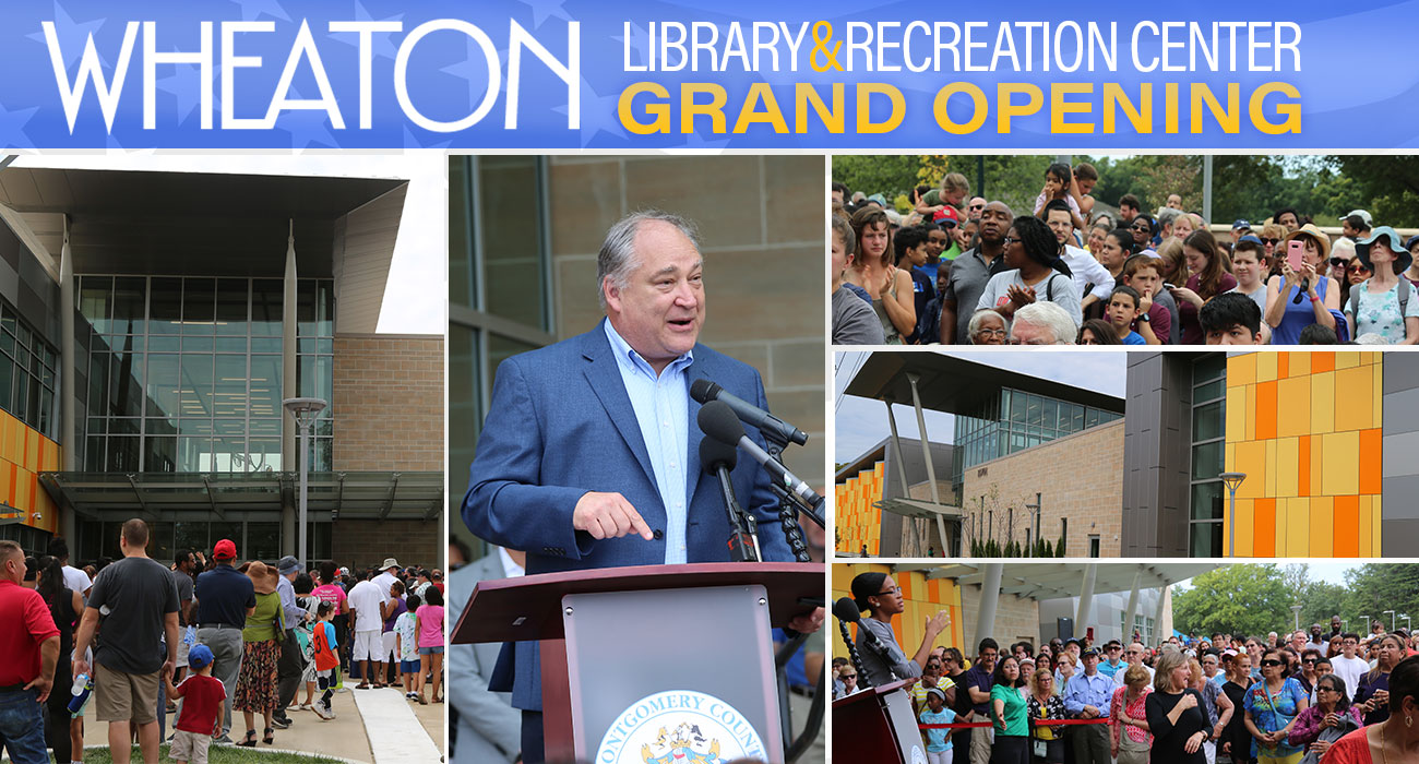 Ribbon-cutting Opens Montgomery County's First Combined Library Community Recreation Center and Local Park