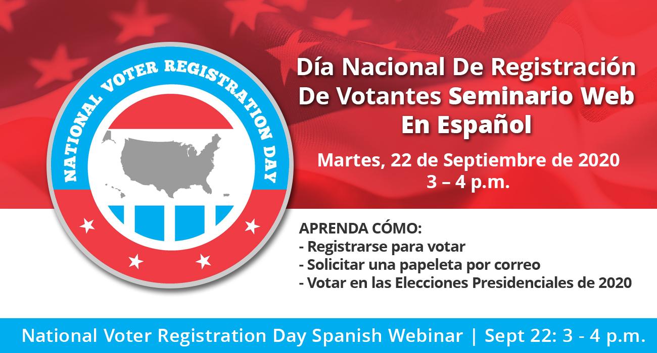 Día Nacional De Registración De Votantes Seminario Web En Español