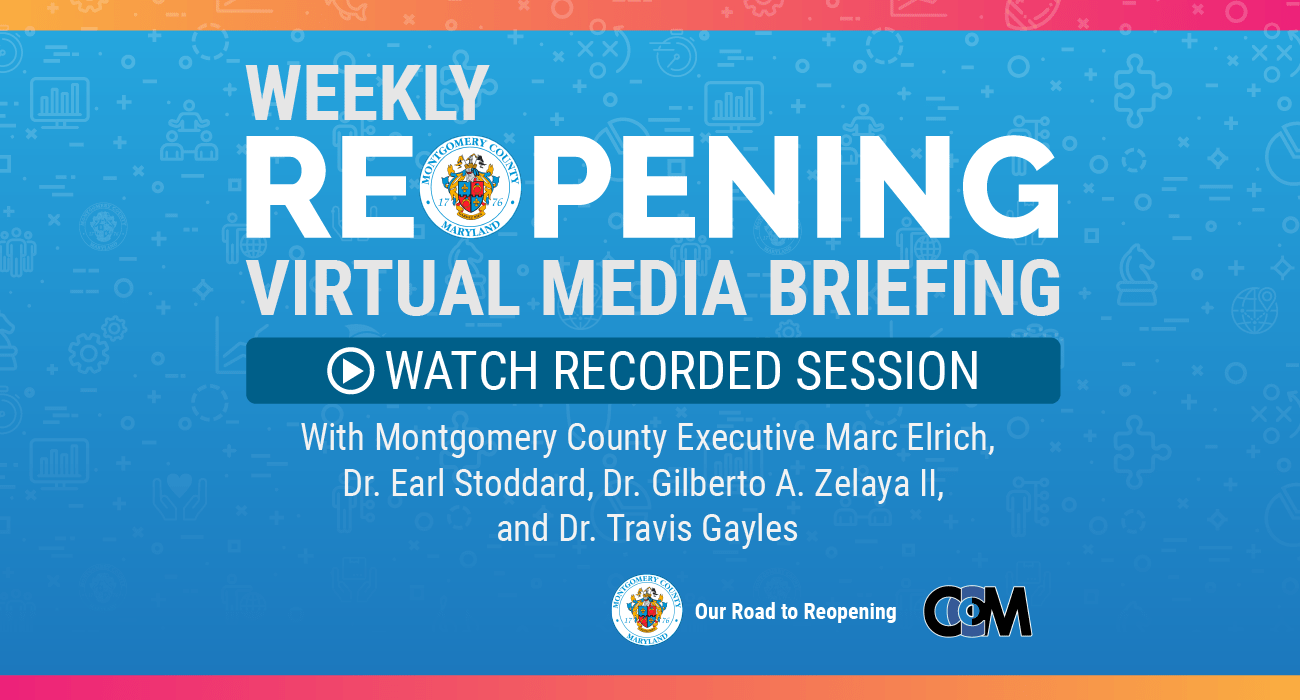Recorded Weekly Wednesday COVID-19 Media Briefing