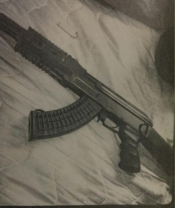 Replica AK-47 located in Bradshaw's residence during a search warrant