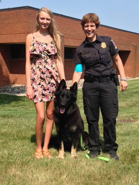 Eva, Officer Garmard, and Quest