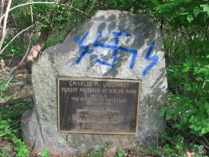042616 vandalism to memorial rock
