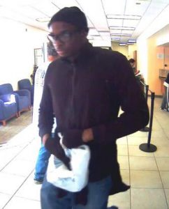 Suspect in SunTrust Bank robbery