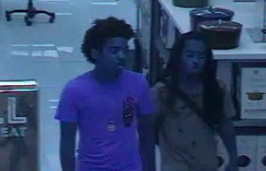 Suspects in Theft at Sunglass Hut at Macy's
