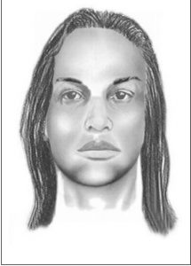 """This suspect is described as an African American male in his 20's with a dark complexion. He is approximately 5'08"""" tall and was wearing a waist length wig, a pink and beige halter top, a denim skirt, and beige sandals."""