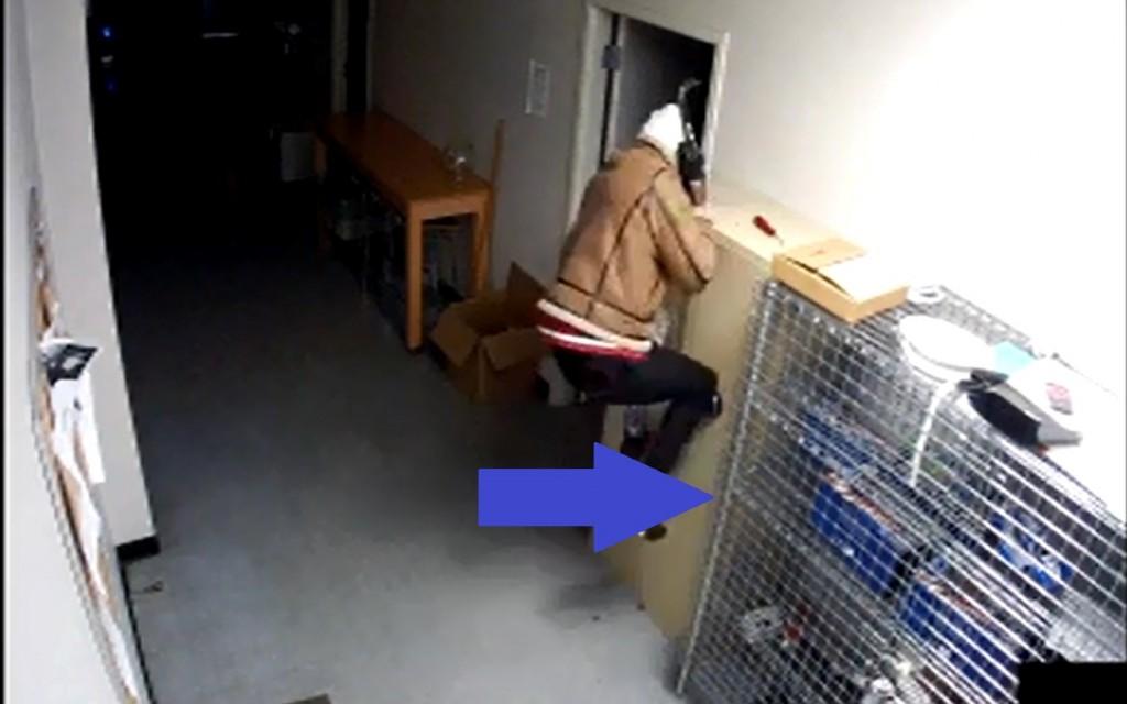 Surveillance Video of Aspen Hill Sprint Store burglary