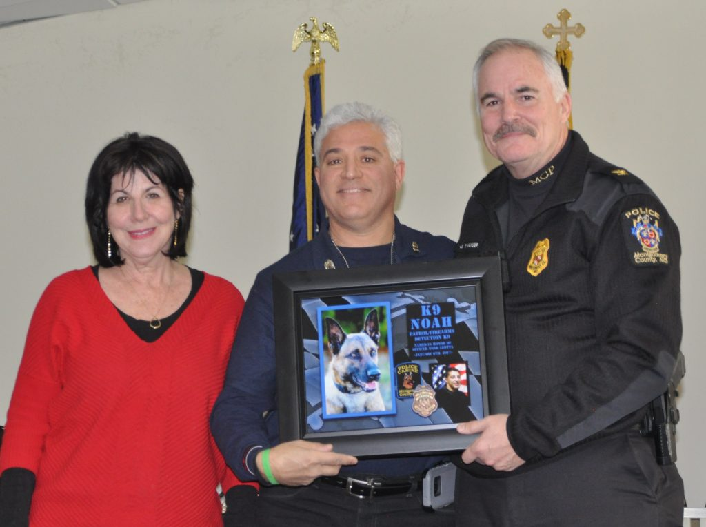 Officer Noah Leotta's parents and Chief Manger