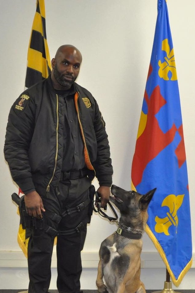 Officer Cecil Williams II and K9Arco