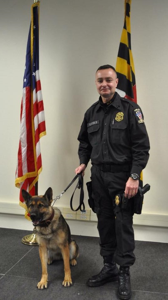 Sergeant Chris Fumagalli and K9 Gabby