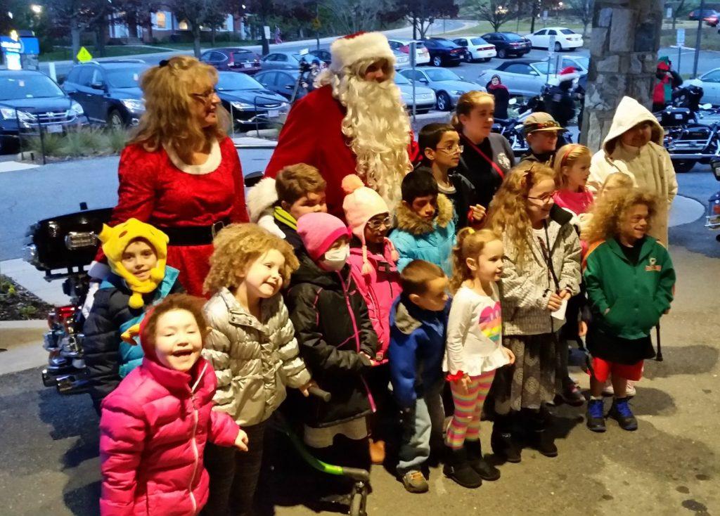 Santa arrives at The Children's Inn (2016)