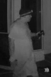 Suspect in residential burglary