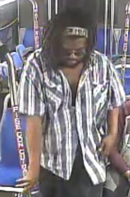 Suspect who committed an indecent exposure and sex offense on a Ride On bus