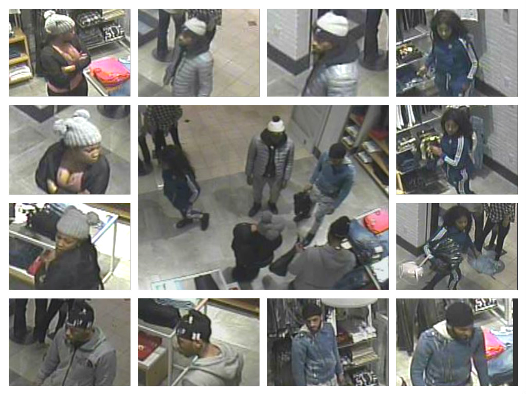 Suspects who committed theft at True Religion store in Westfield Montgomery mall