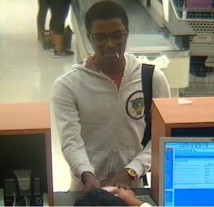Suspect who robbed the PNC Bank located inside of the Giant Food grocery store located at 2900 University Boulevard West on November 14, 2017.