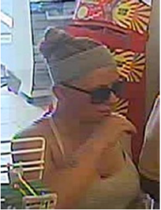 Close-up view of suspect #2 who redeemed stolen Maryland Lottery tickets.