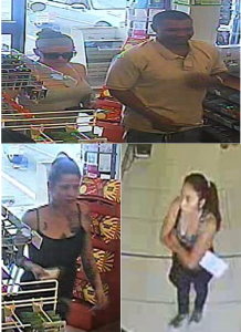 Four suspects who redeemed Maryland Lottery tickets stolen during a commercial burglary. (Note: Individual photographs of the suspects are below)
