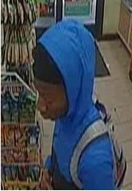 Suspect who used a credit card that was stolen during a residential burglary on East West Highway.