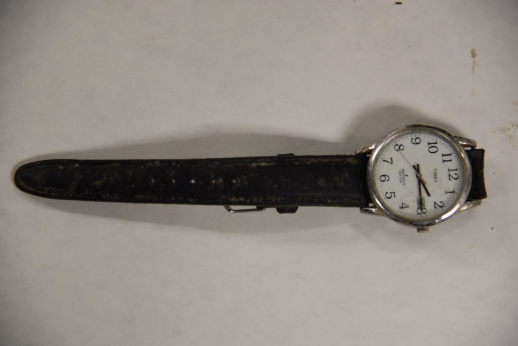 Photograph of watch that was found with the decedent.