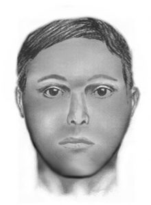 This is a computer-created composite based on the victim's description of the suspect.