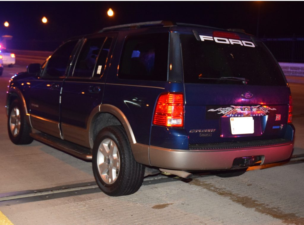 Ford Explorer involved in collision