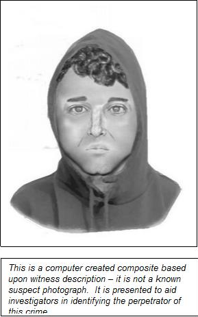 Composite sketch of Montgomery Village rape suspect.