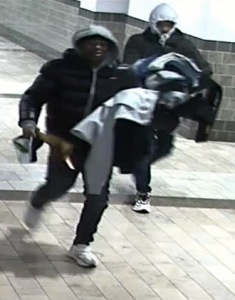 suspects in commercial burglaries at Westfield Wheaton mall.