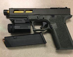 Handgun found in Rodriguez' jacket pocket