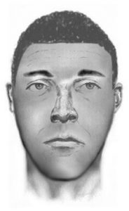 Composite sketch of suspect who was armed with a handgun and attempted to carjack a vehicle in the Silver Spring area.