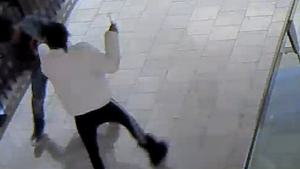 Suspect with knife
