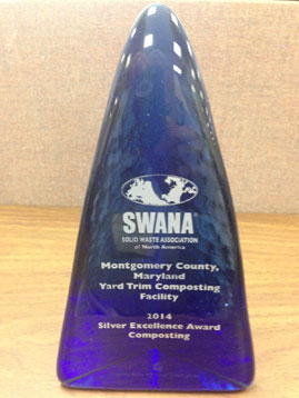 SWANA Silver Excellence Award plaque