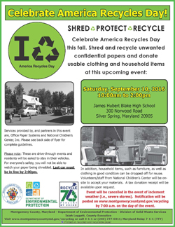 Paper shredding and donation event flyer Spring 2016
