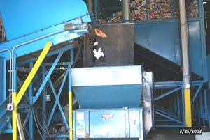 View of compacter