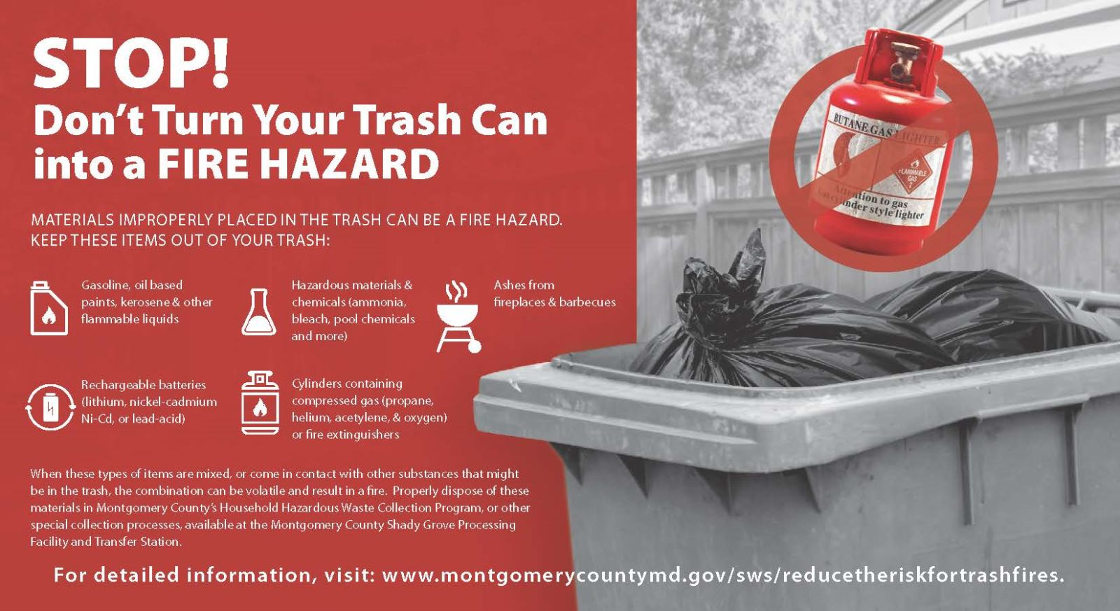 Reduce the Risk for Trash Fires