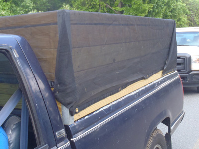 covered truck bed