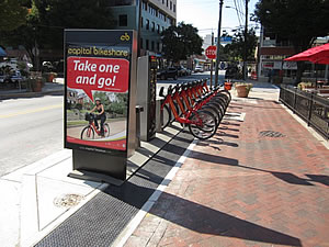 Almost 50 bikesharing stations now exist in Montgomery County alone