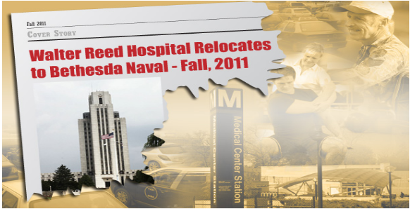 Walter Reed Hospital relocates headline
