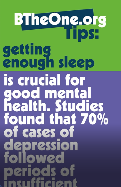 Getting enough sleep is crucial for good mental health.